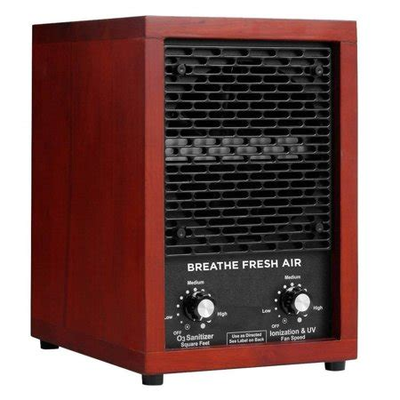 fresh air hepa filter ionic ionizer air purifier with uv sterilizer and 2 ceramic ozone plates