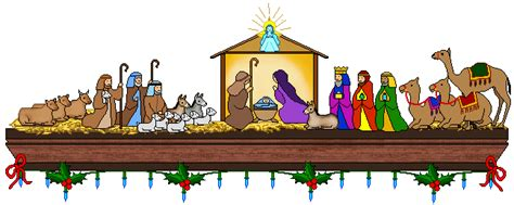 nativity clip clipart manger pencil and in color