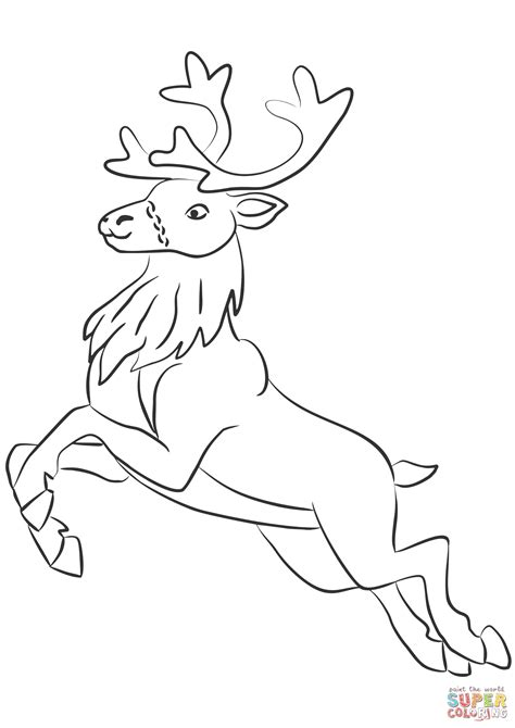 coloring pages of reindeer flying how to draw santa reindeer 8 how to draw a christmas deer