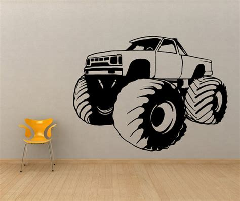 truck wall stickers truck vinyl wall sticker