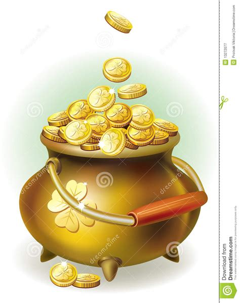 Win 3 In 1 Magic Pot Multi Color magic pot with gold coin royalty free stock photography image 13272077