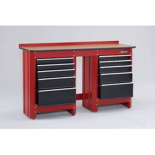 Craftsman 5 Drawer Workbench Module Red Black