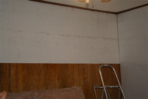 covering paneling wallpaper liner over paneling by thebaldguy