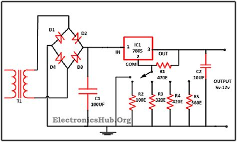 datasheet resistor variabel 0 28v 6 8a power supply circuit using lm317 and 2n3055