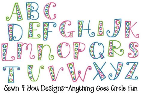 free doodle dot font sewn 4 you designs fonts and alphabets fonts