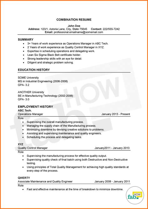 combined resume 28 images combination resume exle a