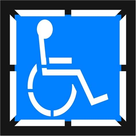 handicap template handicap symbols clipart best