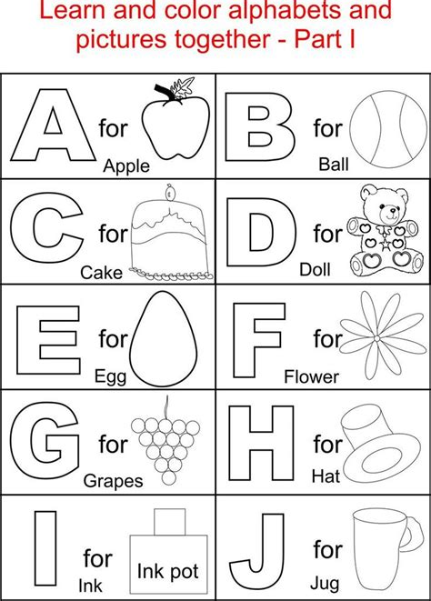 color by letters coloring pages alphabet part i printable
