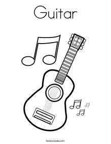 guitar coloring pages guitar coloring page twisty noodle