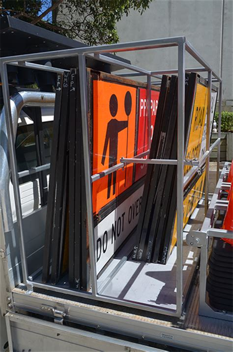 Sign Rack by Traffic Ute Traffic Tray Bodies Duratray