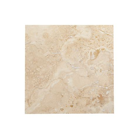single piece natural stone effect travertine wall tile l 305mm w 305mm departments diy at b q