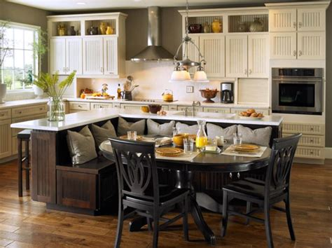 Kitchen Bench Ideas Built In Kitchen Island With Seating Kitchen Island With Built In Seating