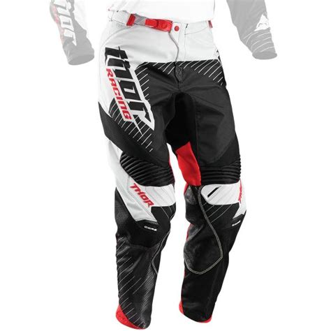 thor t 30 motocross boots motocross trousers thor core hux black white pant in stock