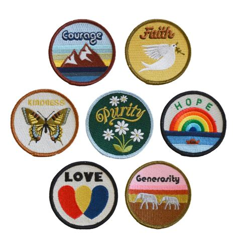 Wholesale Home Decor And Gifts by Set Of Virtues Patches The Novogratz