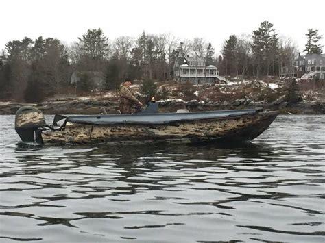 duck hunting pontoon boat duck water ocean