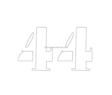printable curb number stencils free curb painting 44 number stencil freenumberstencils com