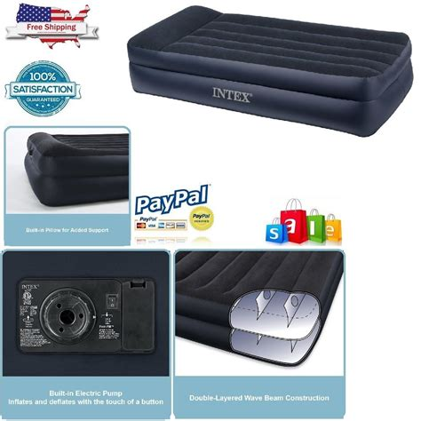 Size Air Mattress With Electric by Intex Airbed Size Built In Electric