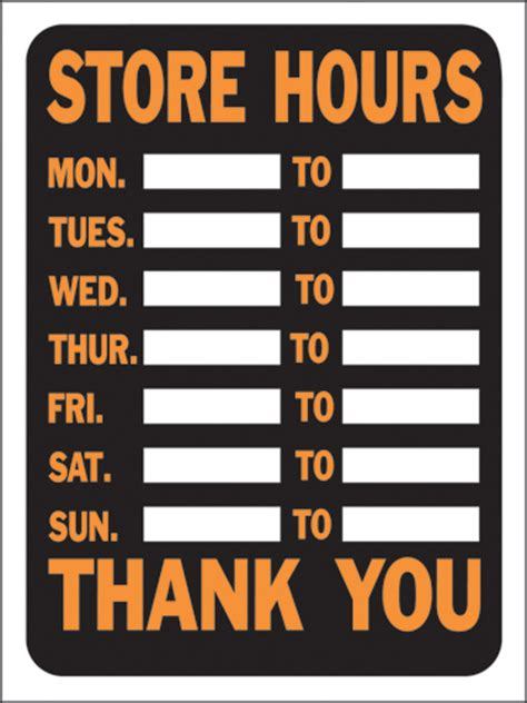 store hours sign template free the groundup stores