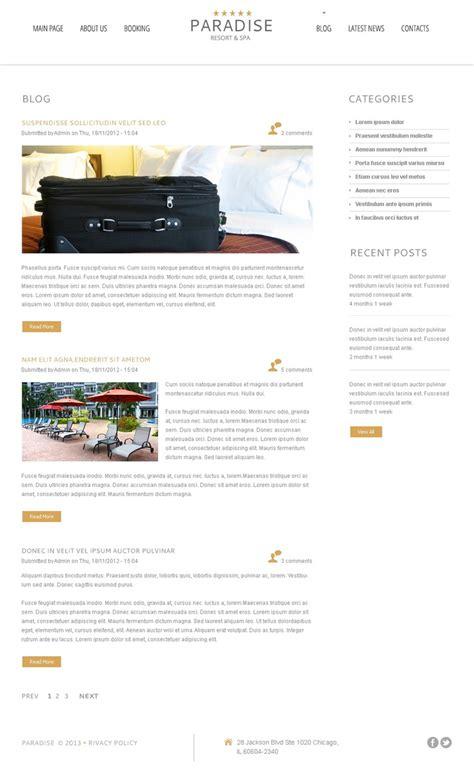 luxury hotel free wordpress theme free templates online