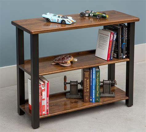 desk with bookshelf on side bookshelf table black walnut caretta workspace