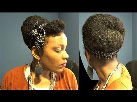 natural hairstyles buns tutorial protective hairstyles polka dot small head scarf natural