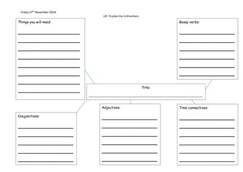template ks1 planning template by charlieray teaching