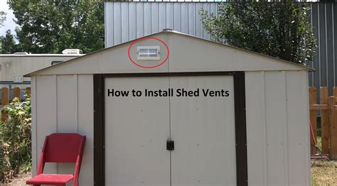 how to vent a shed diy step by step