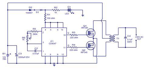 rangkaian converter dc ke dc simetris ic 555 rangkaian inverter dc 12v to ac 220v 100w mosfet