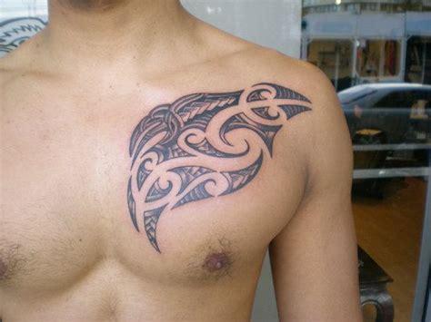 tribal tattoos under breast maori tribal on chest