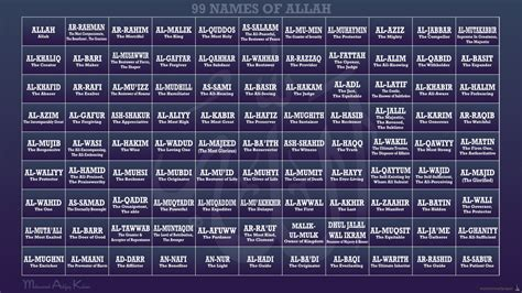 printable version of 99 names of allah 99 names of allah english pass the knowledge light
