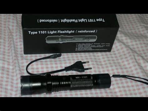 Senter Tipe 1101 ulasan tentang senter stun gun flashlight tipe 1101