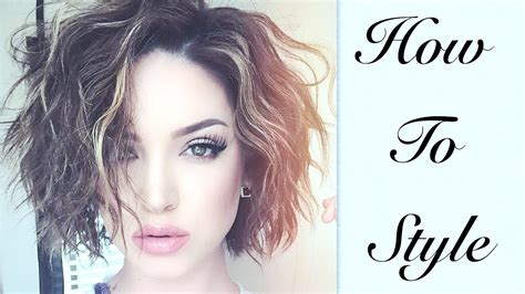 tutorial wavy short hair short wavy effortless hair tutorial youtube