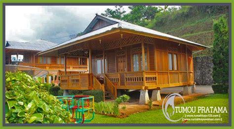 rumah kayu ukuran      desain minimalis tipe  kamar
