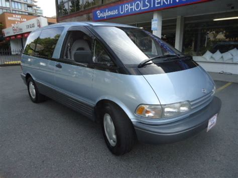 1991 Toyota Previa 1991 Toyota Previa Le Mini Passenger 3 Door 2 4l Right
