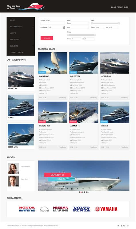 free boat selling sites 19 best free joomla templates images on pinterest joomla