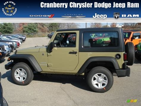 2013 Commando Green Jeep Wrangler Sport 4x4 72766220