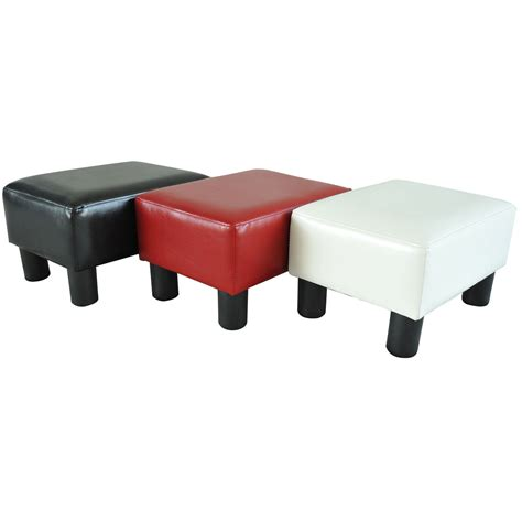 small chair and ottoman modern faux leather ottoman footrest stool foot rest small