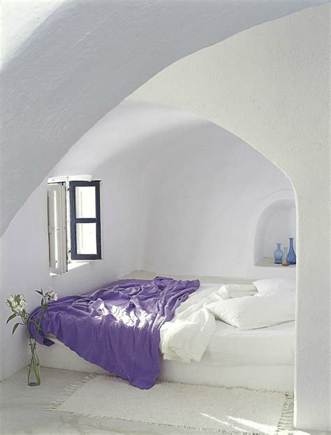 greek bedroom spectacular hotel interiors on the island of santorini