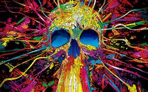 colorful skeleton colorful skull amazing hd wallpapers