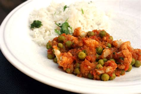 dinner dishes this week for dinner featured recipe gobi matar sabzi