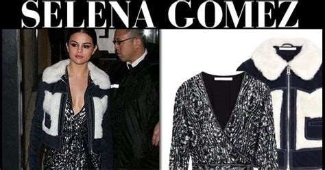 Terlaris Selena Glitter Cardigan selena gomez in sequin dress and fur collar cropped jacket in on march 10 i want