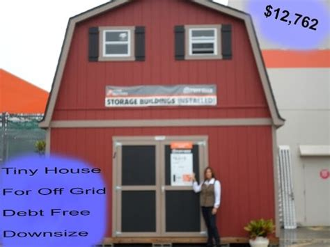 tiny home living idea tuff shed