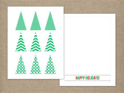 Hgtv Home Design Templates Modern Tree Card Printable And