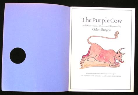 poems about the color purple book the purple cow and other poems a play books book