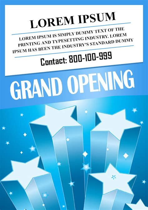 grand opening flyer template free 20 grand opening flyer templates free demplates