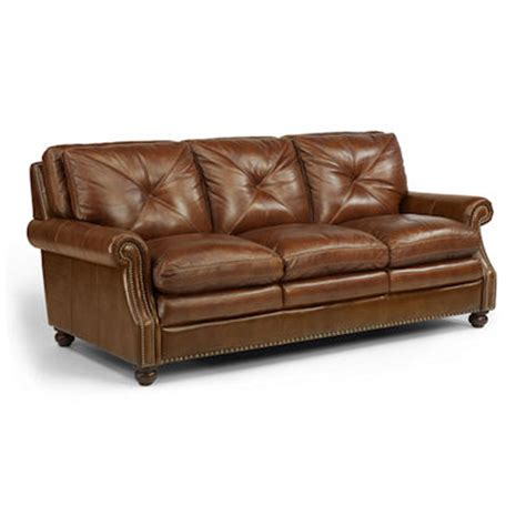 flexsteel leather sofa price flexsteel 1741 31 suffolk sofa discount furniture at