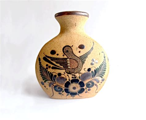 Mexican Pottery Vases by Vintage Mexican Pottery Painted Vase