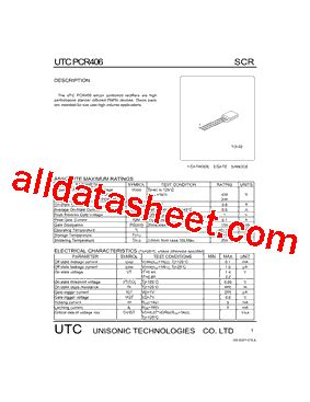 q406 transistor data sheet pcr406 datasheet pdf unisonic technologies