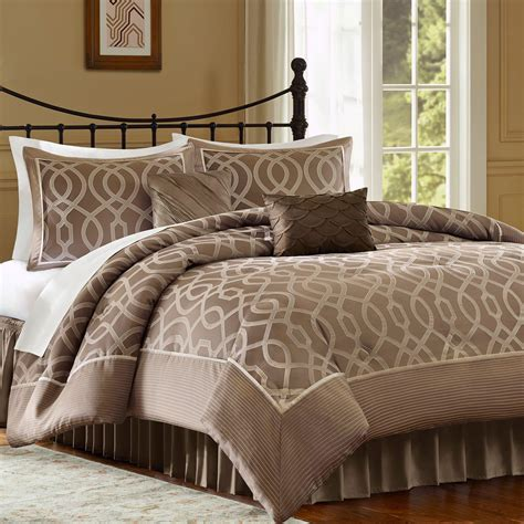 jaclyn smith 4 piece ogee comforter set home bed