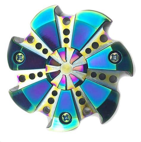 Premium Class Fidget Spinner Metal Shield Titanium Aloy Robotic Kurn 50 cool metal fidget spinner toys must for design office